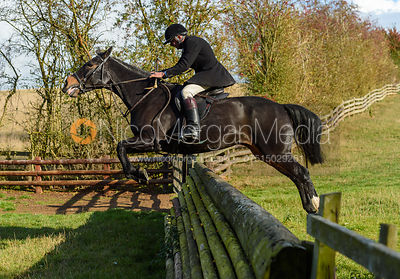 William Bevin jumping a fence. Quorn Hunt Opening Meet 2018