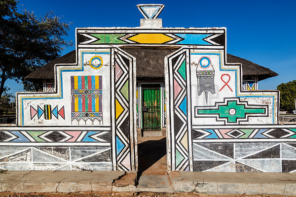 Gateway to Traditional Ndebele House