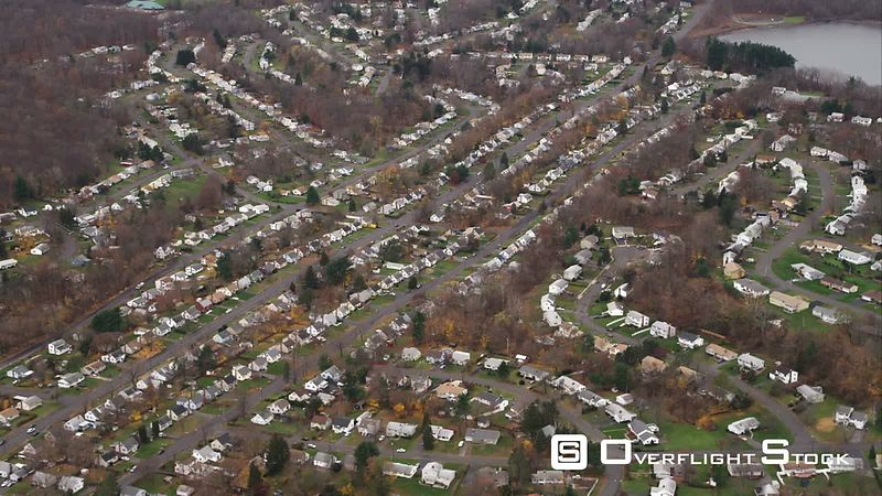 Residential Area Southwest of Hartford, Connecticut. Shot in November