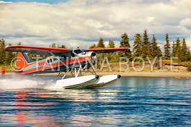 Water plane takes off Lake Iliamna