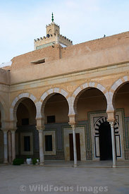 The colonade of the Mosque of the Barber. It is know as this becasue the complex contains the tomb of Abu Zama el-Belaoui, a ...