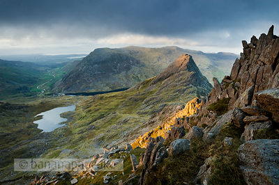 Tryfan and the Ogwen Valley from Glyder Fawr - BP2636