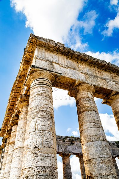 Ancient Temple Ruins in Segesta Sicily