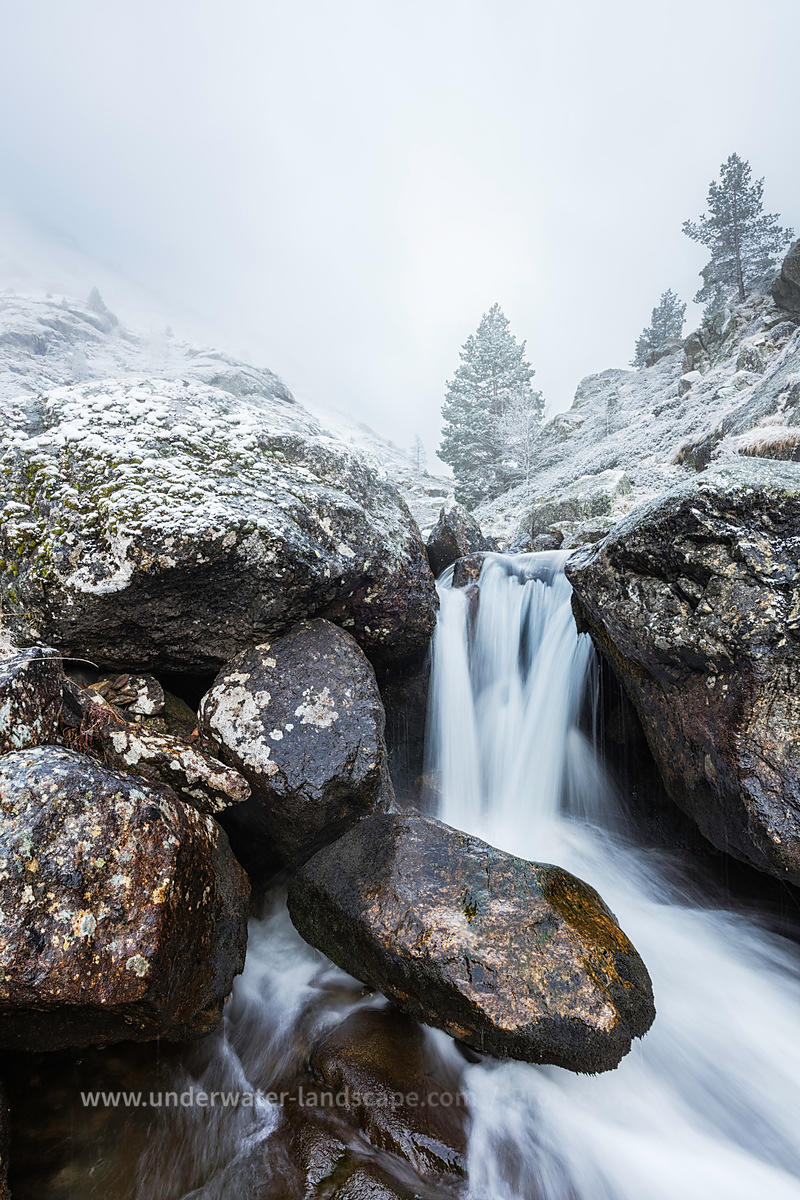 Snowy Stream in French Pyrenees