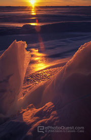 Ice-Formations at Sunset