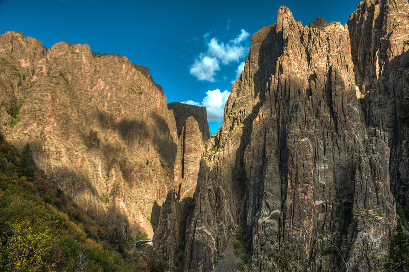 Black Canyon of the Gunnison National Park.  Near Montrose, Colorado.