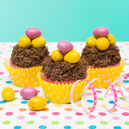 Beautifully decorated Easter cupcakes