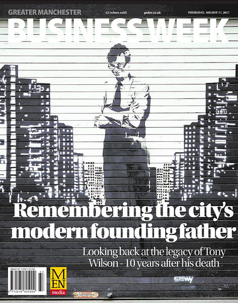 Tony Wilson graffiti for MEN