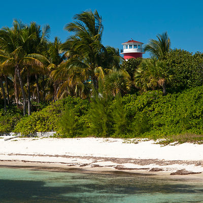 Port Lucaya Lighthouse in Freeport, Bahamas