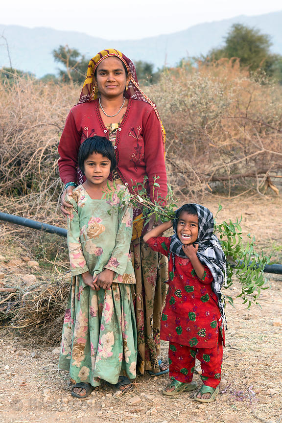 Adorable Nadia and her family, Kharekhari village, Rajasthan, India