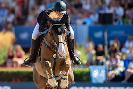 29/07/18, Berlin, Germany, Sport, Equestrian sport Global Jumping Berlin - Championat der DKB von Berlin -   Image shows ALVA...