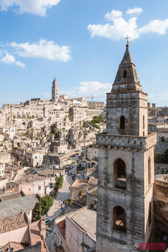 Elevated view of Sassi di Matera, Basilicata, Italy
