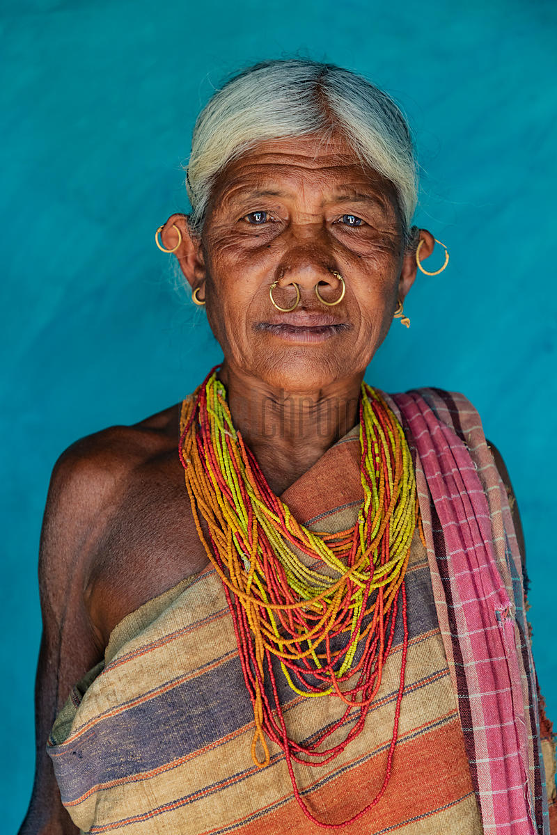 Portrait of an Elderly Woman from the Gadaba Tribe