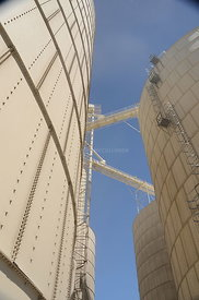 Grain Bins cartoon looking up