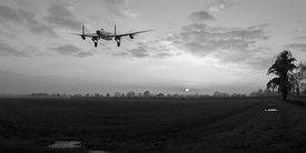 Lancaster sunset black and white version