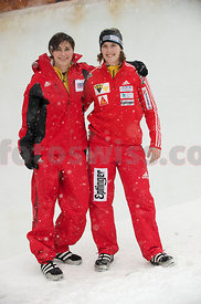 Sabina Hafner Pilot and Tamaris Allemann at Olympia Bob Run Saint St. Moritz