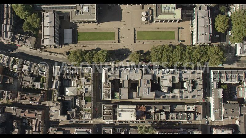 Aerial footage of the British Museum, London