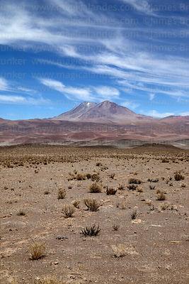 High altitude desert and Aucanquilcha volcano, Region II, Chile