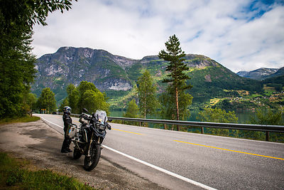 european motorcycle travel photography norway