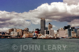 Aukland, New Zealand Waterfront and the Vero Centre Skyscraper.
