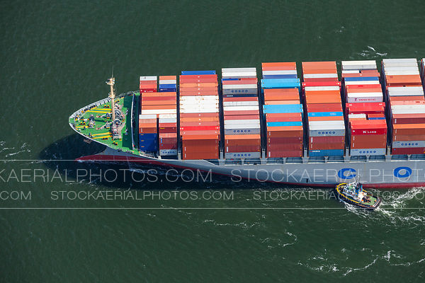 Container Ship and Tugboat