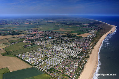 aerial photograph of Newport  near Great Yarmouth  Norfolk England UK