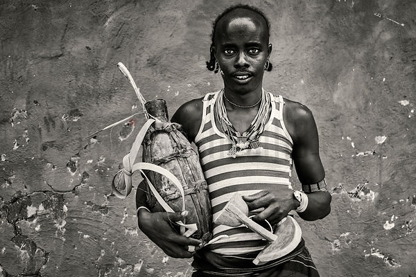 Portrait of a Hamar Man Selling Honey at Dimeka Market