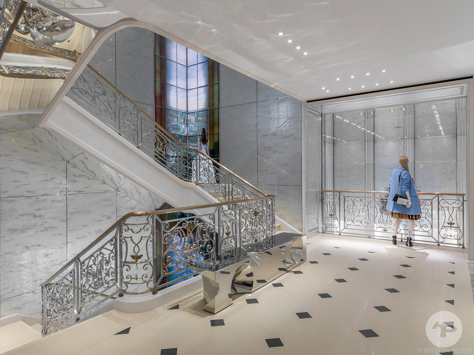 Retail architecture photographer - Dior flagship New Bond Street, London. Photo ©Kristen Pelou