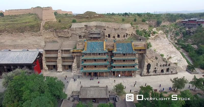 Buddha Statues Caves in Yungang Grottoes China