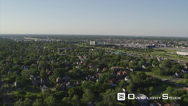 Drone Video Suburban and Commercial Detroit Michigan