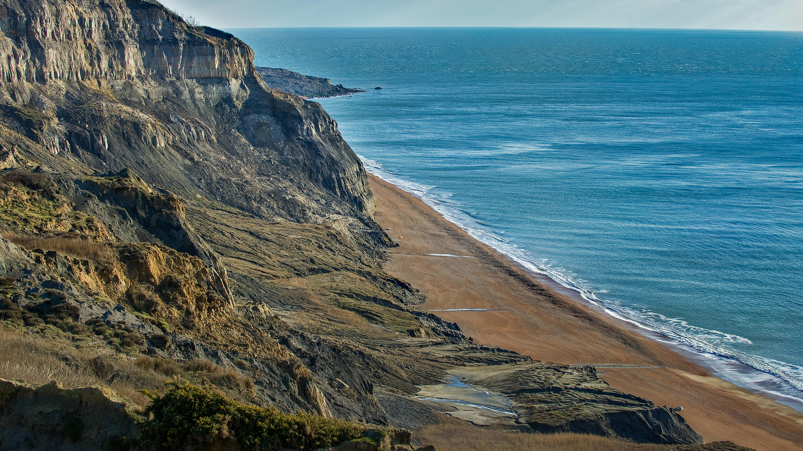 Isle of Wight's Southern Coastal Cliffs