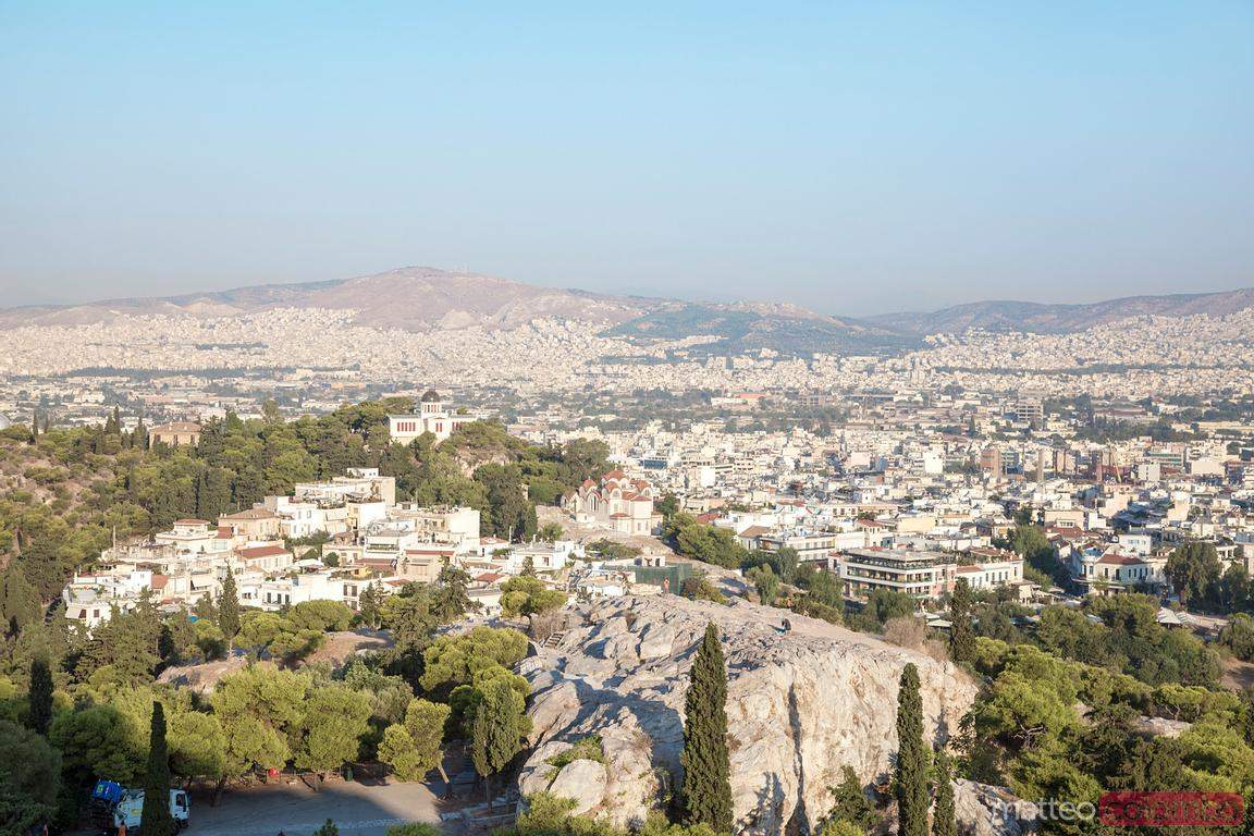 Elevated view of Athens at daytime, Greece