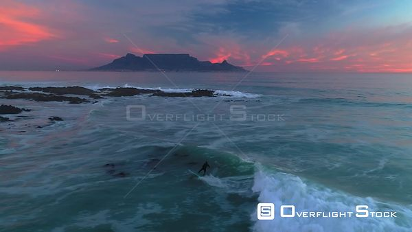Table Mountain from Bloubergstrand South Africa