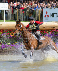 Andrew Heffernan and MILLTHYME COROLLA - Cross Country phase, Mitsubishi Motors Badminton Horse Trials 2014