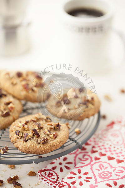 Pecan Cookies and coffee