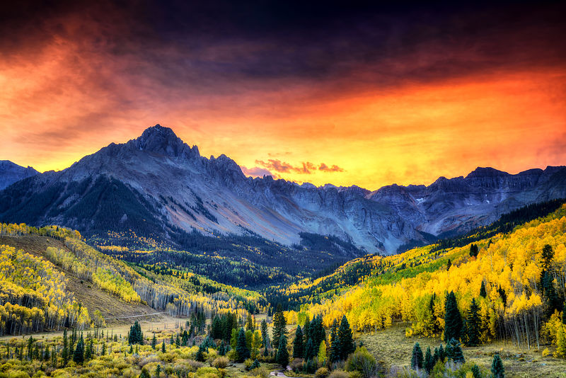 Mount Sneffels Fall Sunrise