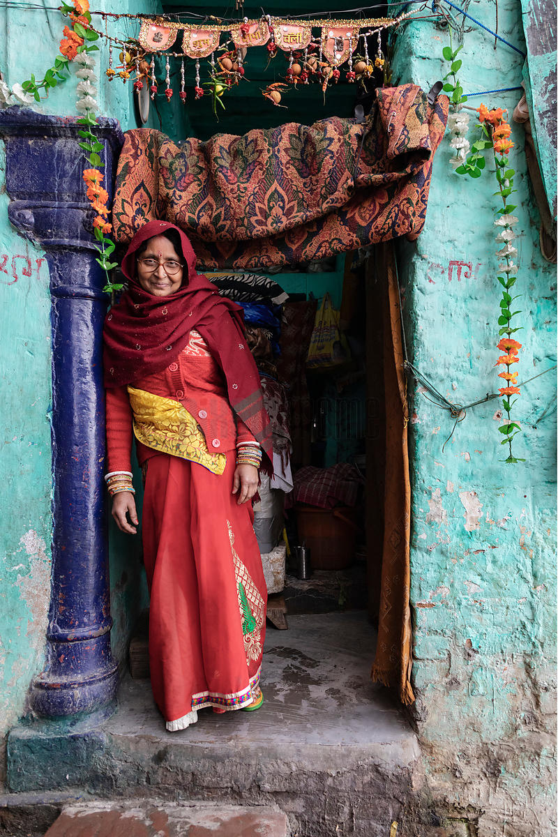 Portrait of a Grandmother at the Yamuna Ghat