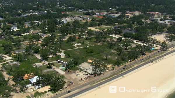 Empty lots and foundations of a neighborhood devastated by Hurricane Katrina