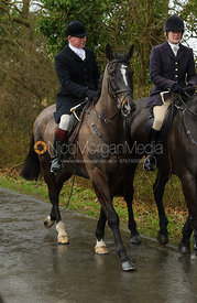 David Manning MFH and Sarah McCorquodale MFH - The Belvoir at Burton Pedwardine