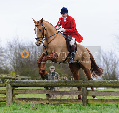 Ashley Bealby jumping a hunt jump from the meet