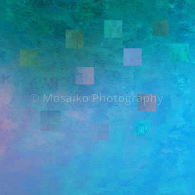 colorful mosaik watercolors on textured paper - abstract backround