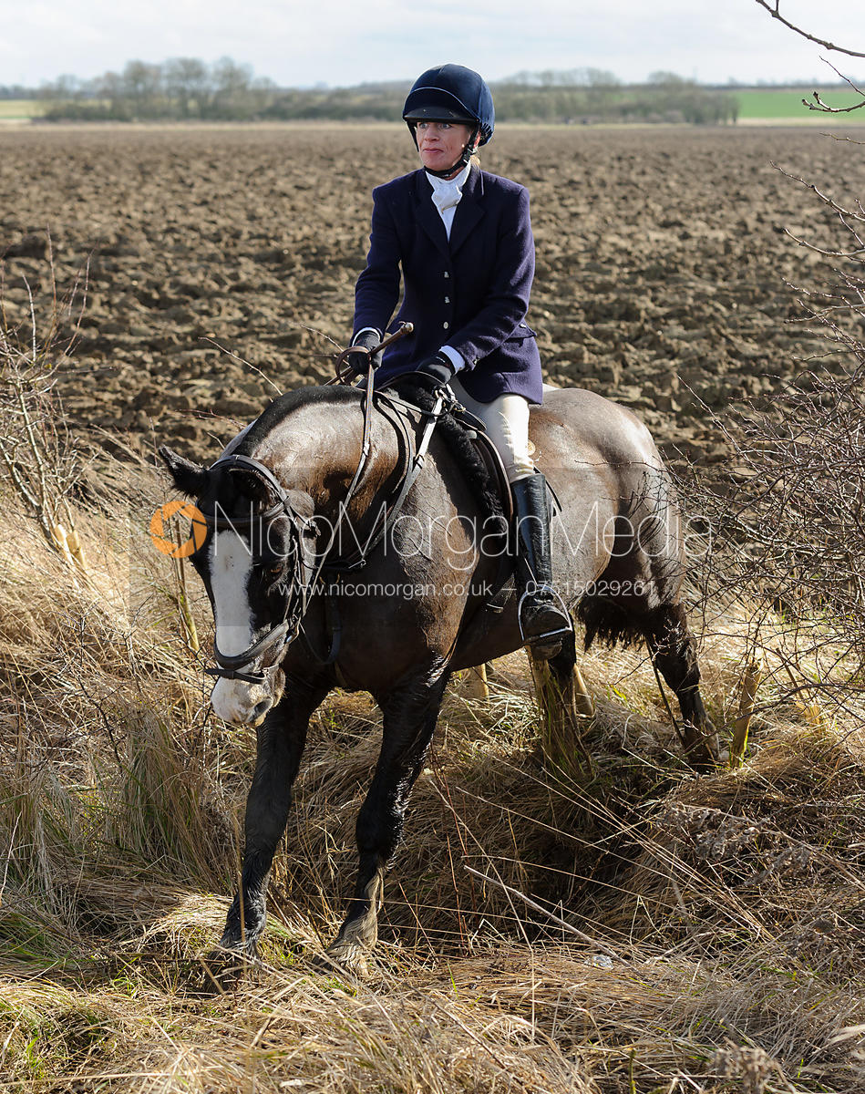 Jumping a ditch - The Belvoir at Burton Pedwardine