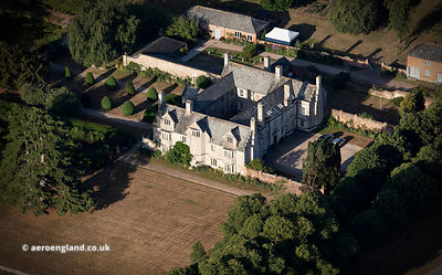 Cadhay House aerial photograph