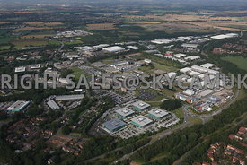 Warrington aerial photograph of Birchwood Park Industrial Estate
