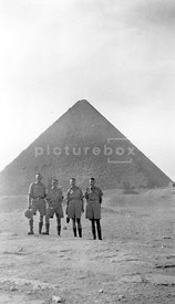 An old family photograph of British soldiers from the 8th army in Egypt in the second world war.