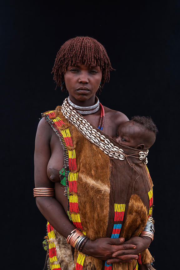Portrait of a Hamar Woman and her Child