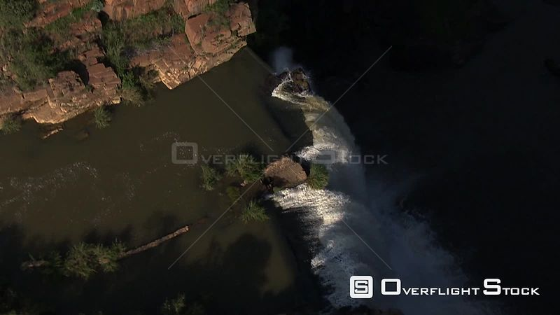 Aerial shot over a waterfall in Nelspruit Nelspruit Mpumalanga South Africa