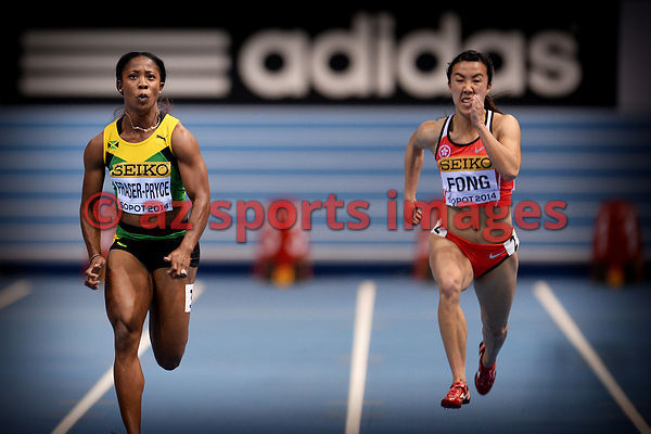 Shelly-Ann FRASER-PRYCE (JAM),and Yee Pui FONG (HKG)