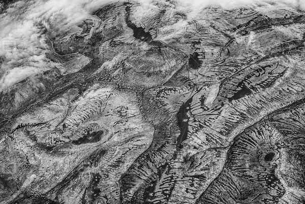 Abstract Ice Age Land Pattern Oregon