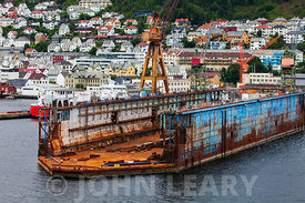 Floating Dry Dock at Bergen Norway.